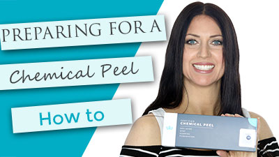 Preparing your skin for a chemical peel.